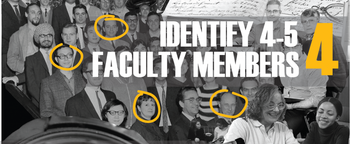 #4 Identify 4-5 Faculty Members. Vintage image of professors and staff.