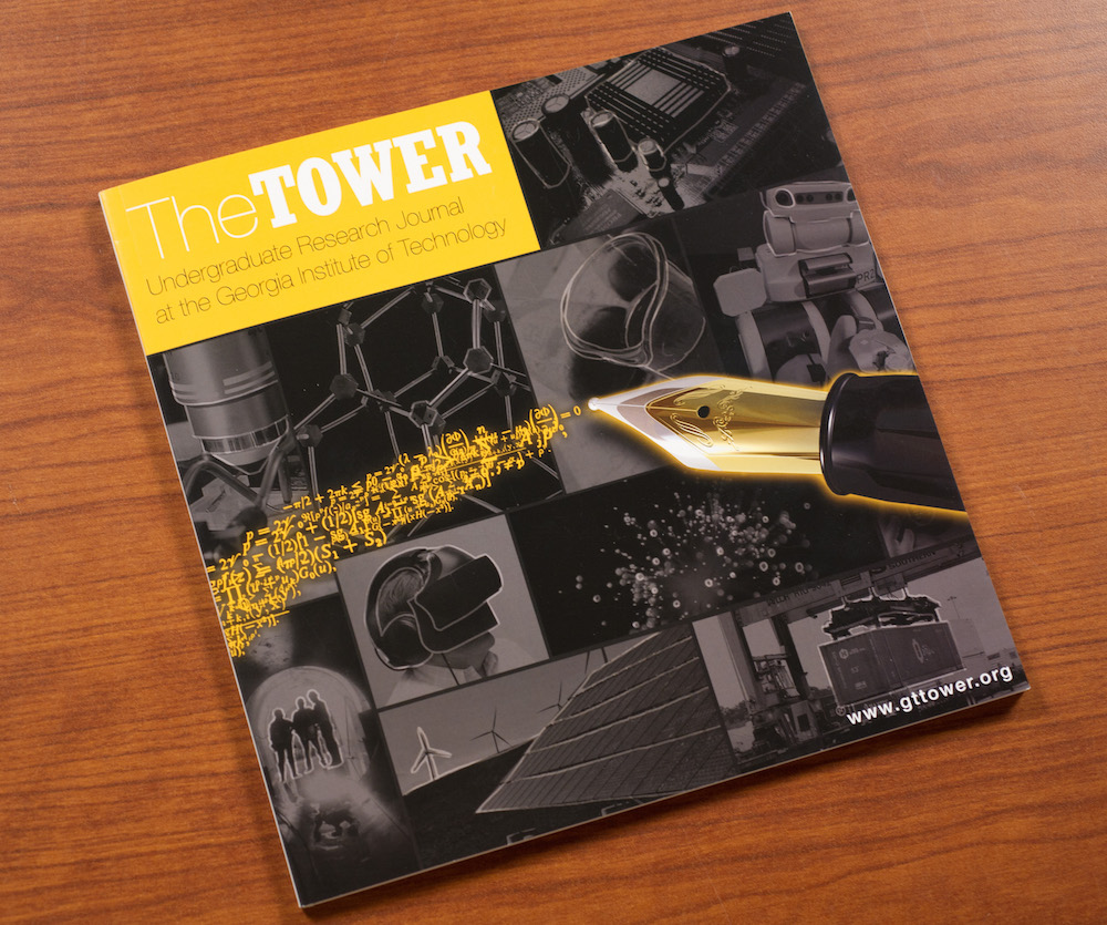 Image of the cover of a printed copy of the Tower Undergraduate Reserach Journal.